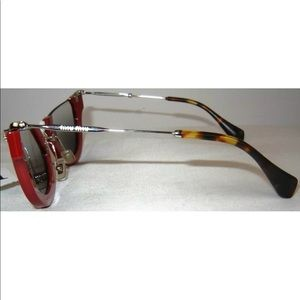 5d1e4de930b0 Miu Miu Accessories - Miu miu rounded cut off cat-eye sunglasses